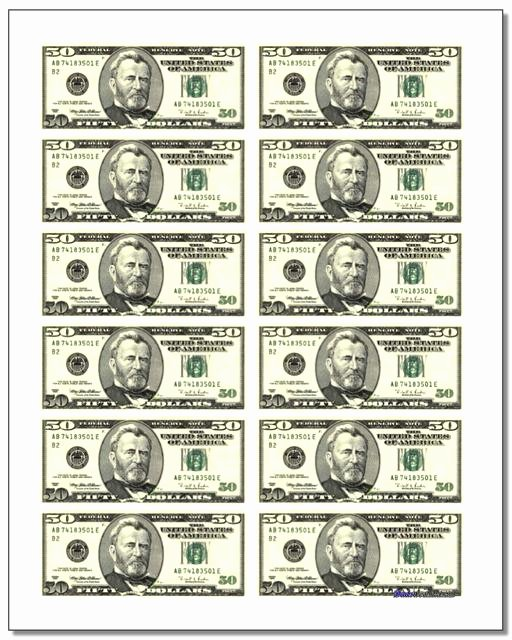Fake Money order Template Fresh Printable Play Money