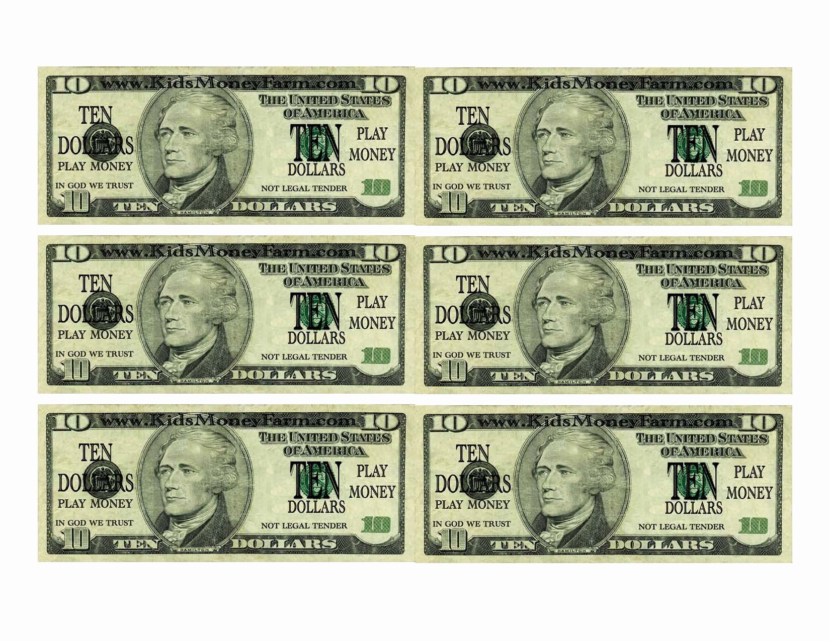 Fake Money Template Beautiful Printable Prop Money Printable 360 Degree