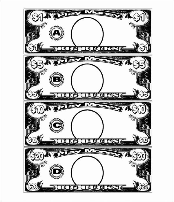 Fake Money Template Elegant Play Money Template