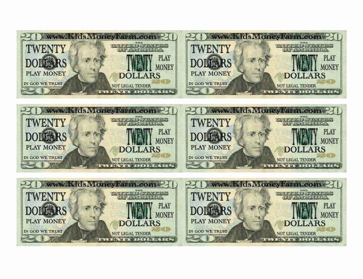 Fake Money Template Fresh Fake Money Printable
