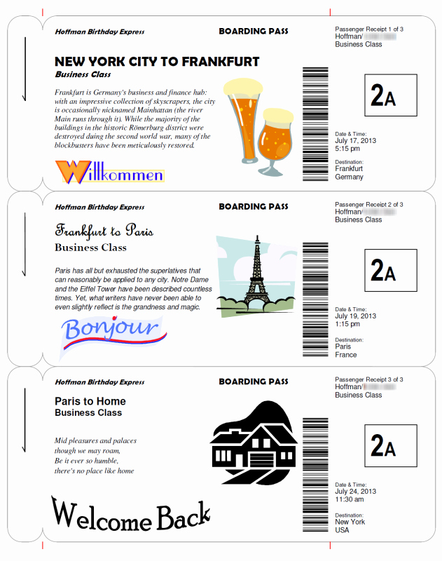 Fake Movie Ticket Generator Best Of Boarding Pass Templates for Invitations & Gifts