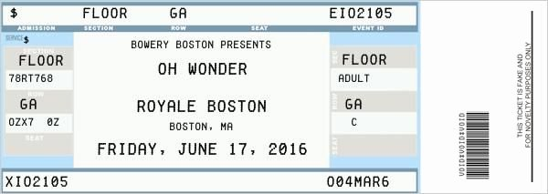 Fake Movie Ticket Generator Elegant Fake Ticket Generator Concert Ticket Surprise