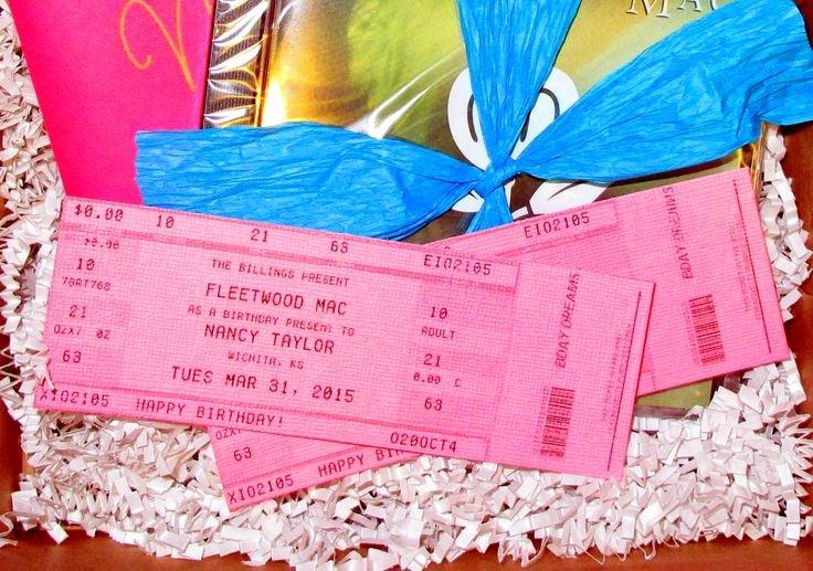 Fake Movie Ticket Generator Fresh 10 Best Ideas About Concert Ticket Gift On Pinterest