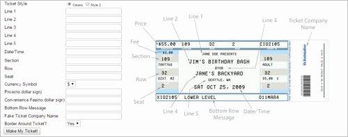 Fake Movie Ticket Generator Inspirational 36 Printable Movie Ticket Templates Free Psd Pdf Excel