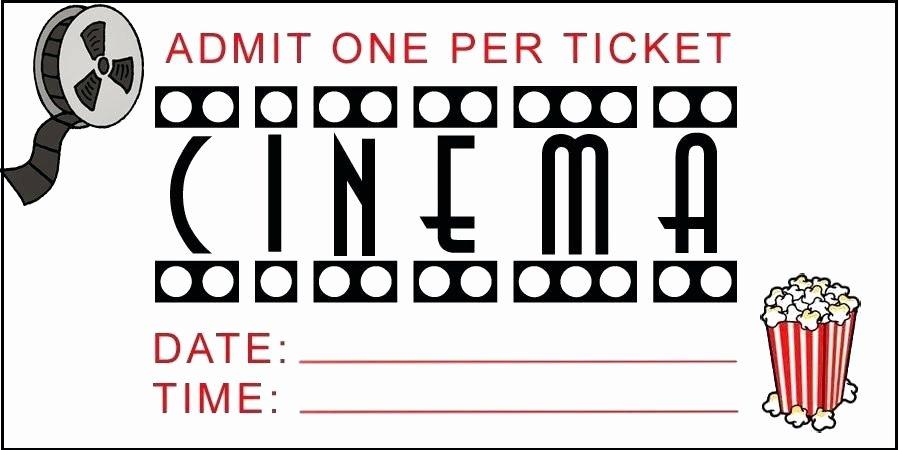 Fake Movie Ticket Generator Lovely Fake Movie Ticket Template – Scsllc