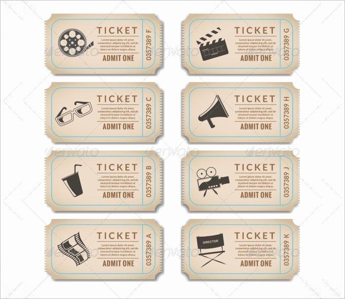 Fake Movie Ticket Generator Luxury Free 6 Printable Fake Movie Ticket Template Word Pdf