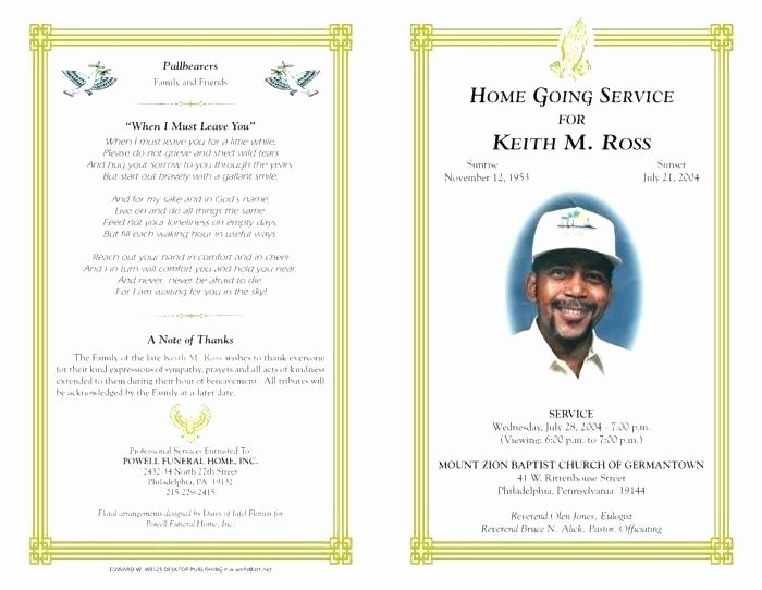 Fake Obituary Maker Awesome Funeral Template Download