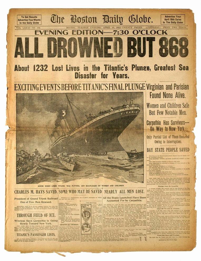 "Fake Obituary Maker Beautiful Reddingsboten Titanic Slechts Halfvol ""dit Schip Kan toch"