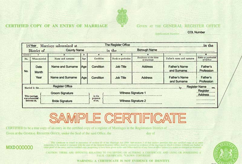 Fake Obituary Maker Lovely Marriage Certificate Uk