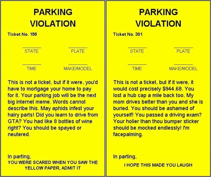 Fake Parking Ticket Generator Elegant Send You A Fake Parking Ticket Generator Spreadsheet by
