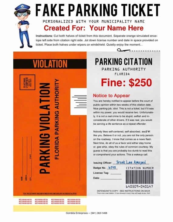 Fake Parking Ticket Generator Lovely 41 Genius April Fools' Day Pranks Your Kids Will totally