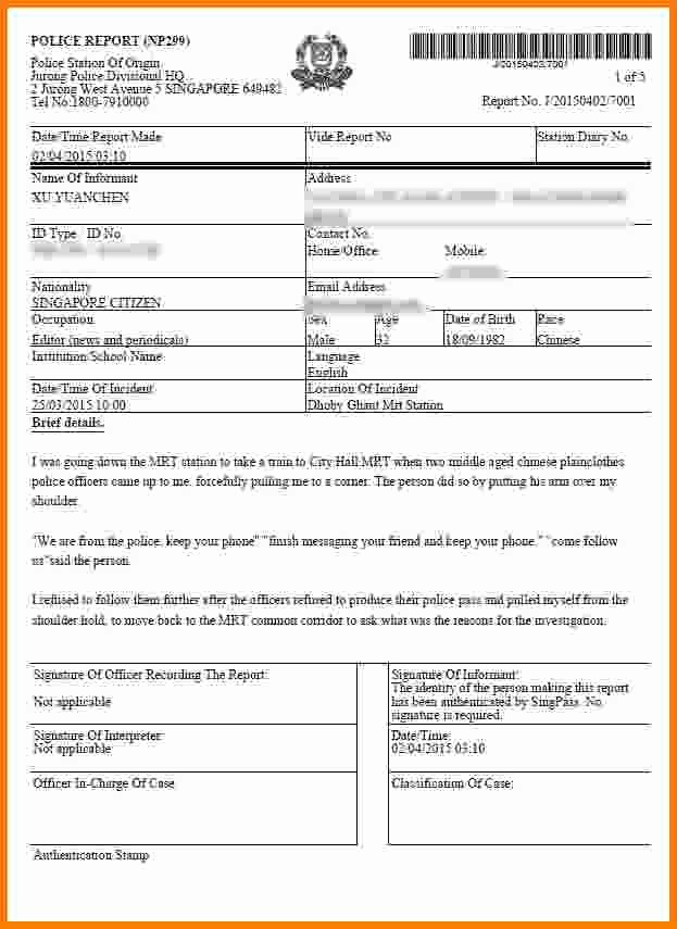 Fake Police Report Template Fresh 9 Fake Police Report