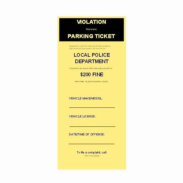 Fake Police Ticket Generator Elegant Download & Use Free Microsoft Publisher Parking Ticket