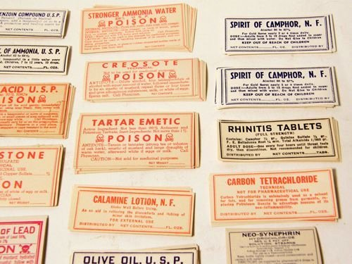 Fake Prescription Label Template Awesome Poison and Other Labels sobbed Pinterest