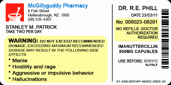 Fake Prescription Label Template New Pill Bottle Label by Lastgambit On Deviantart