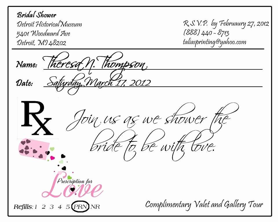 Fake Prescription Pad Template Best Of Prescription Pad Invitation Custom Listing for by