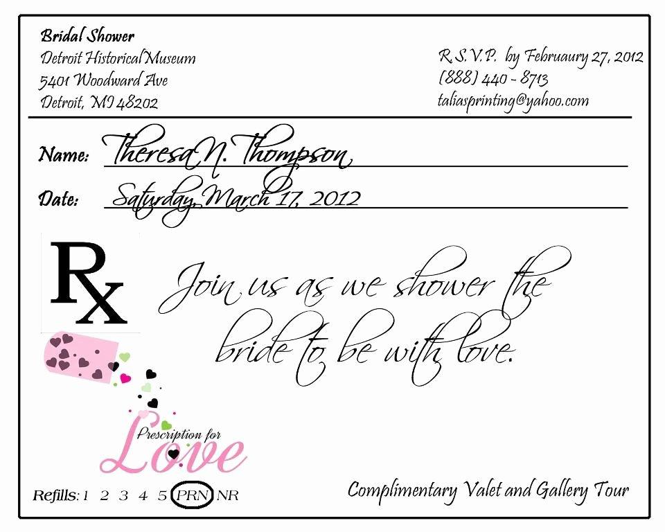 Fake Prescription Pad Template Luxury Prescription Pad Invitation by Taliasprinting On Etsy $40