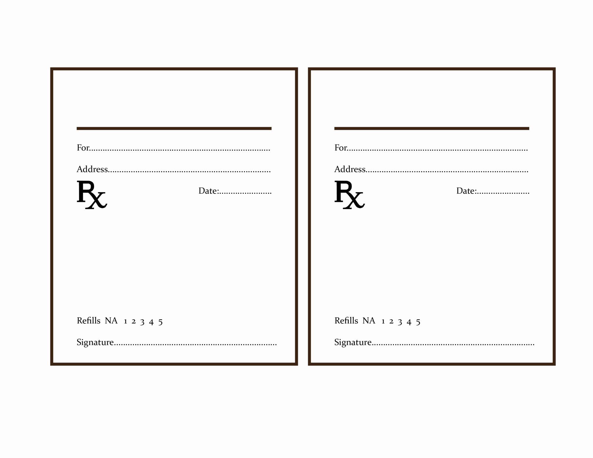 Fake Prescription Template Elegant the Delight Of Paper