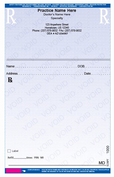 Fake Prescription Template Inspirational Rxpads Home Prescription Pads