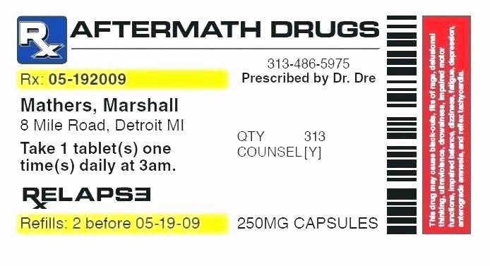 Fake Prescription Template Luxury Fake Prescription Label Template Lera Mera Business