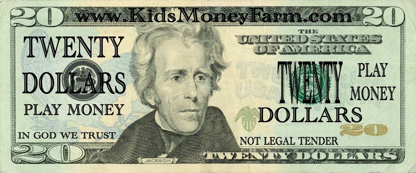 Fake Printable Money Awesome Best S Of 20 Dollar Bill Play Money Template Play