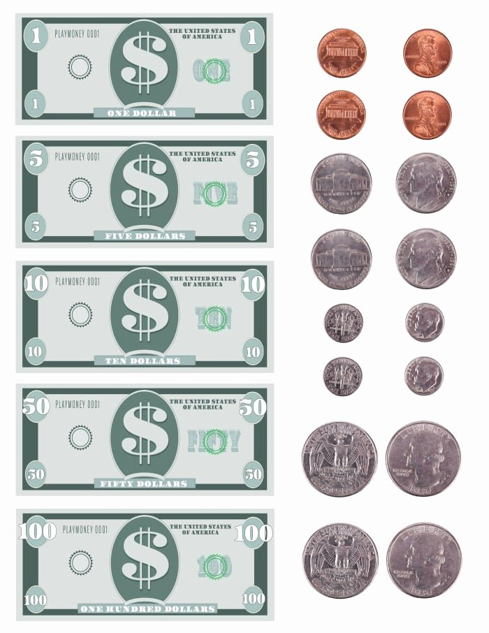 Fake Printable Money Awesome Free Printable Play Money Template