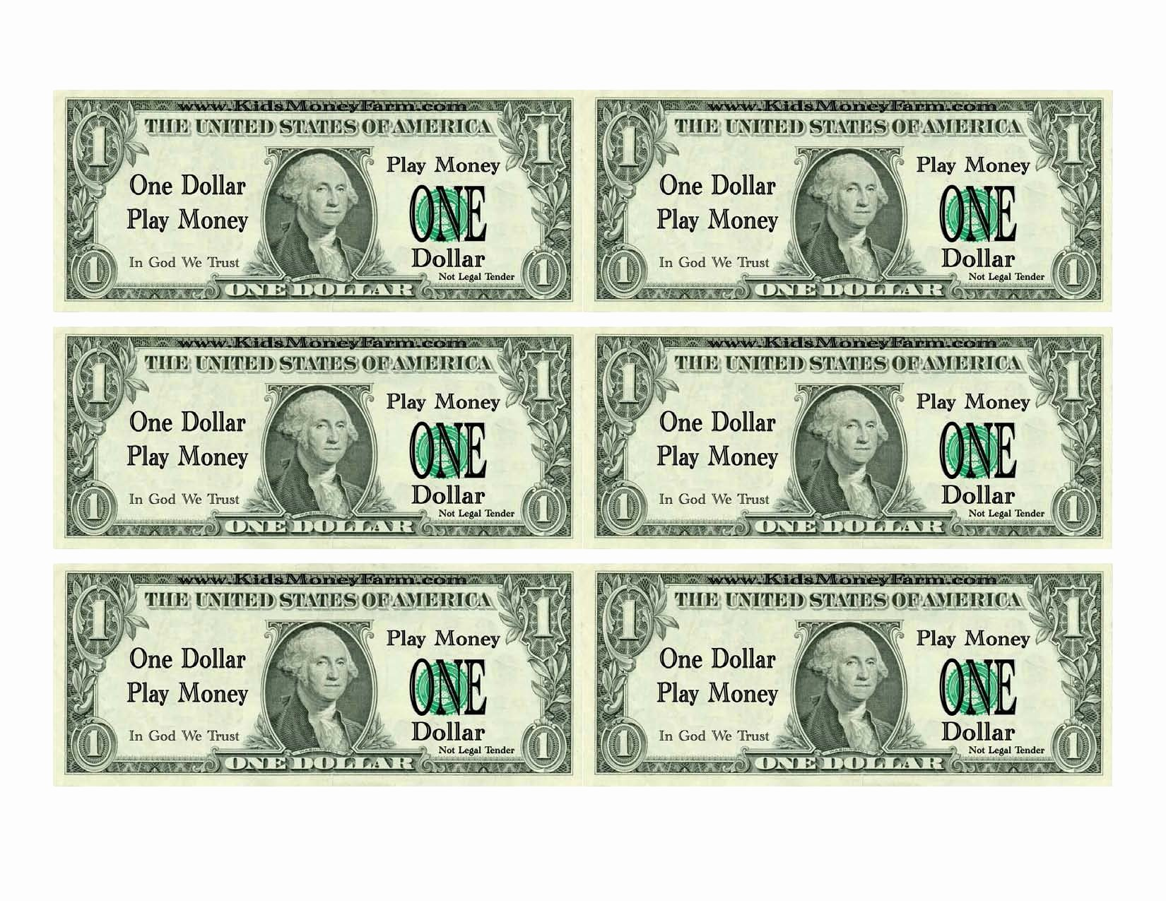 Fake Printable Money Lovely Best S Of Printable Realistic Play Money Printable