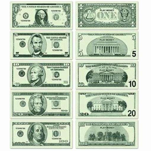 Fake Printable Money Lovely Casino Play Money 20 Of Each $1 $5 $10 $20 $100 Vegas