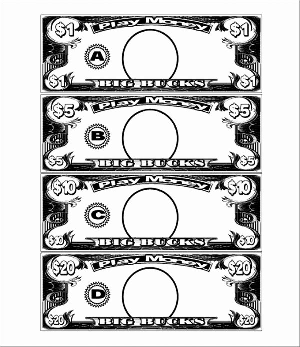 Fake Printable Money Luxury Play Money Template Party