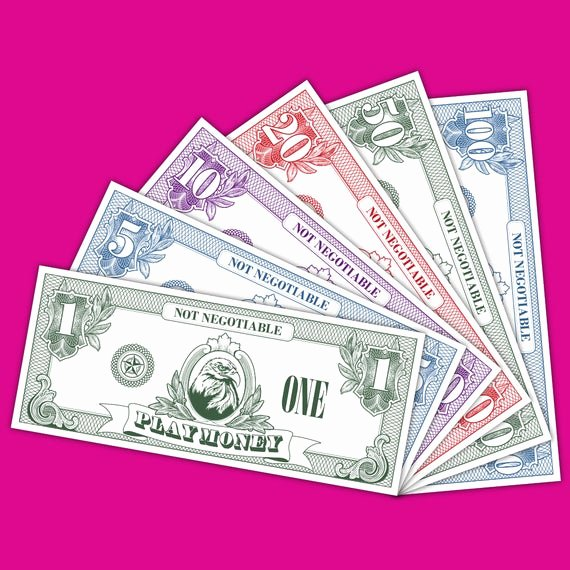Fake Printable Money Unique Items Similar to Play Money Fake Money Pretend Money