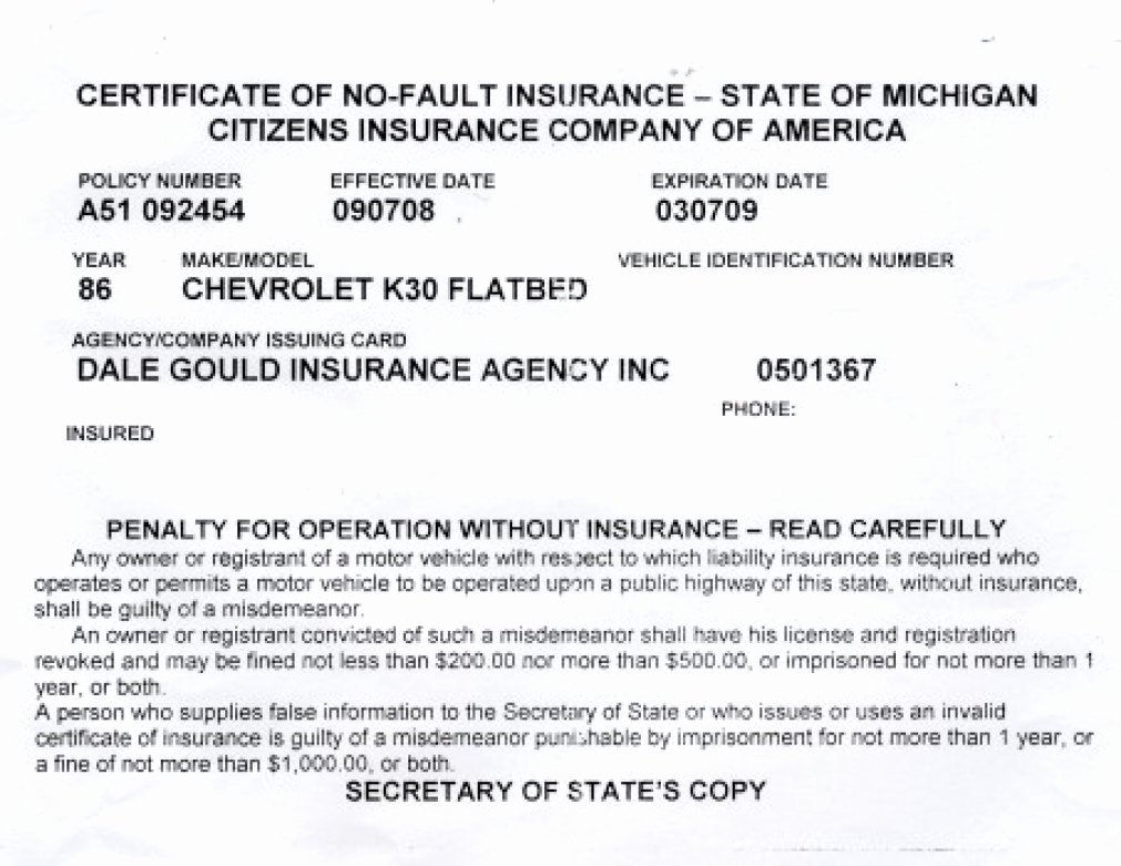 Fake Proof Of Insurance Template Lovely Proof Auto Insurance Template Free