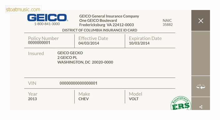 Fake Proof Of Insurance Templates Elegant Fake Insurance Card Template