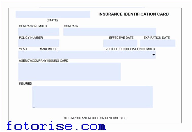 Fake Proof Of Insurance Templates Inspirational Free Fake Auto Insurance Card Template Fake Insurance Card