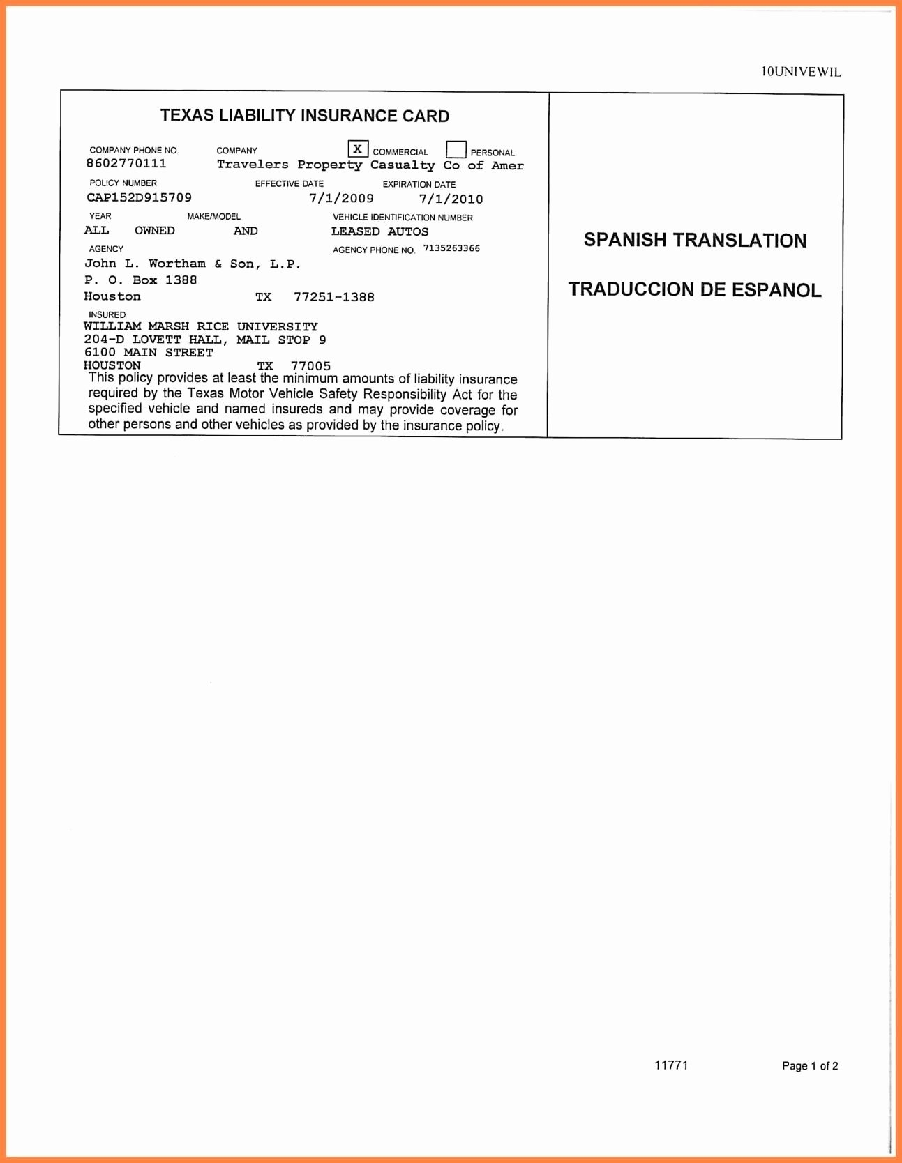 Fake Proof Of Insurance Templates Unique Car Insurance Card Template Free Auto Insurance Card
