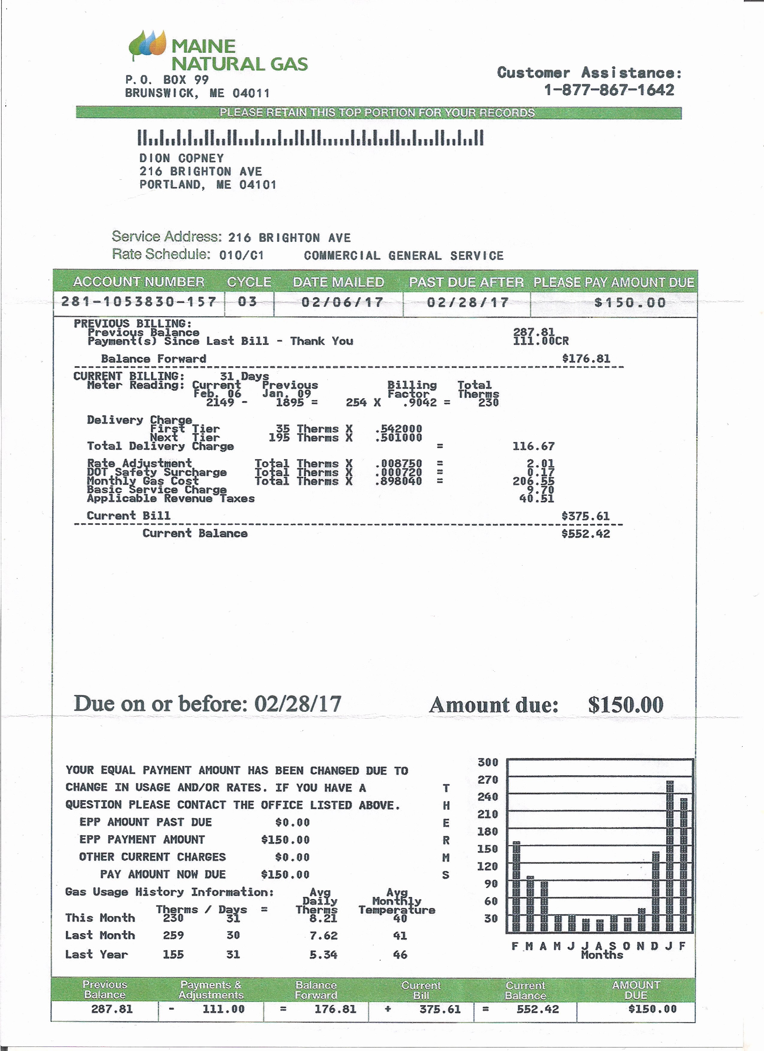Fake Utility Bill Template Best Of Utility Bill Statement Monthly Custom Proof Of