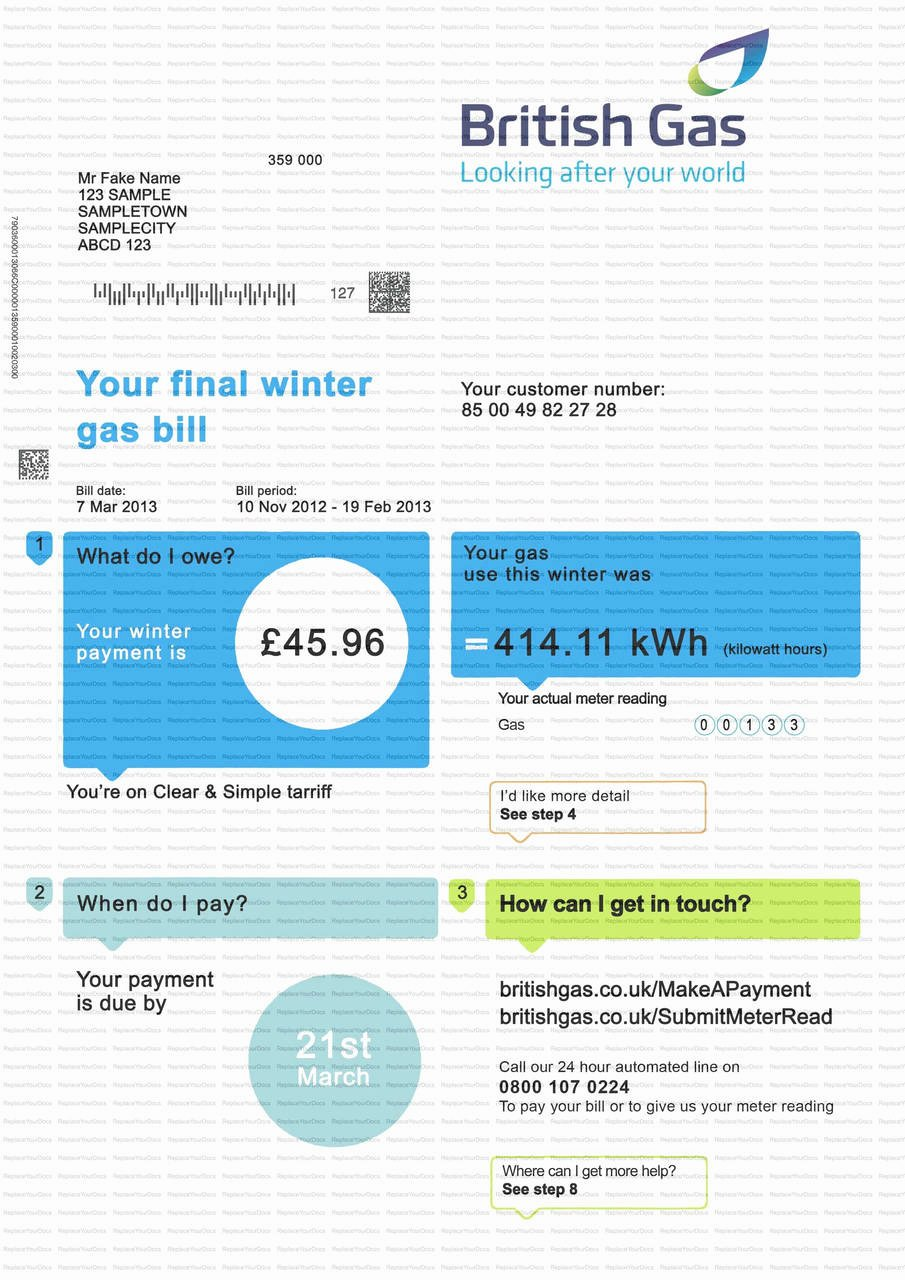 Fake Utility Bill Template New Fake Utility Bill Template Download