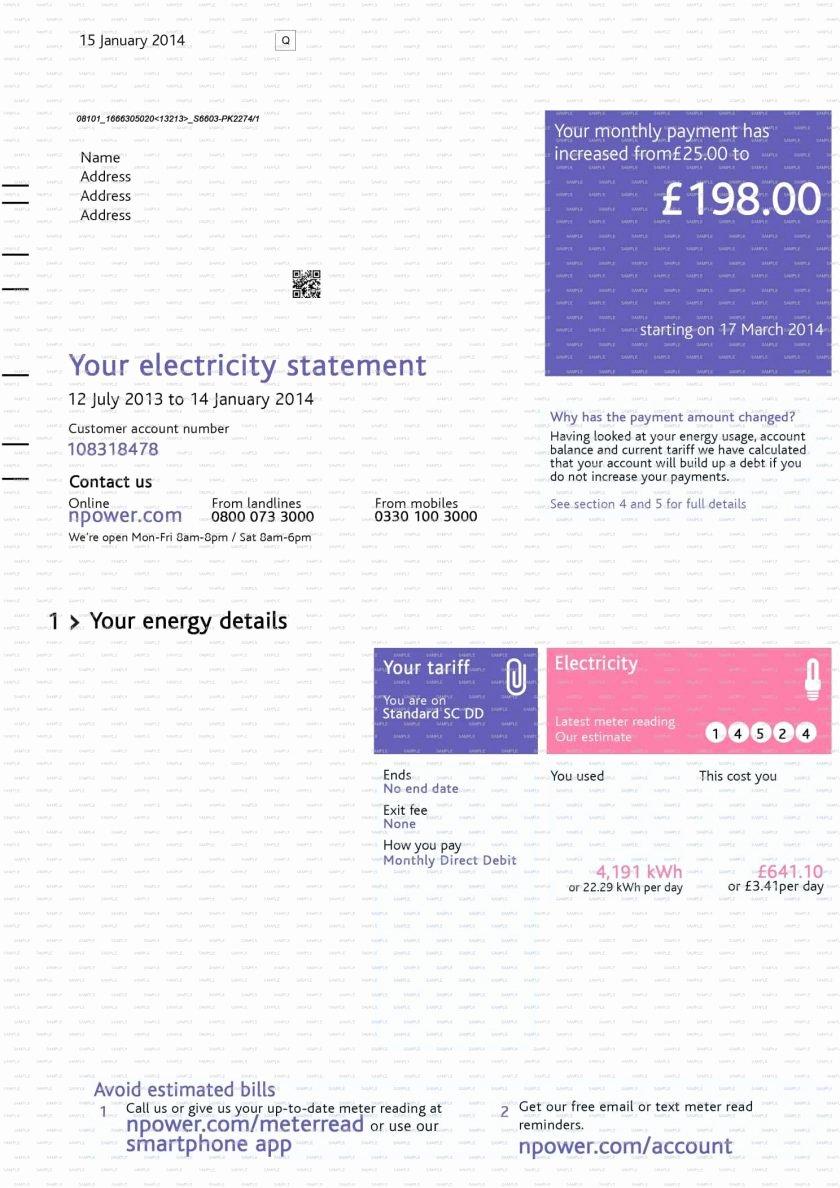 Fake Utility Bill Template Unique Fake Cable Bill Template