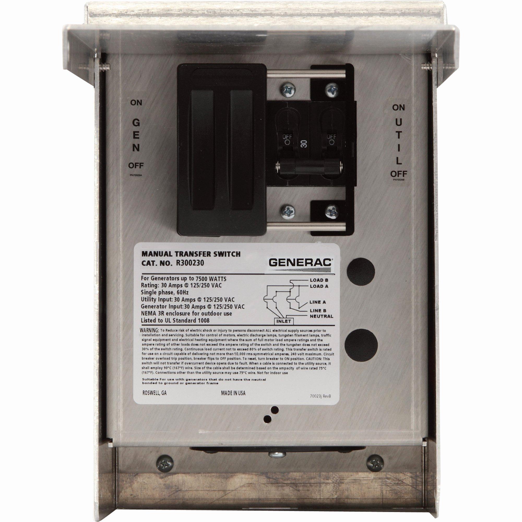 Fake Wire Transfer Generator Elegant Generac Manual Transfer Switch — 30 Amps 125 250 Volts
