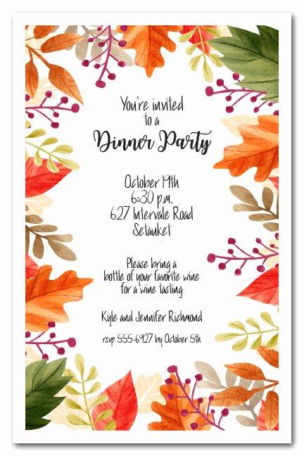 Fall Party Invitation Template Beautiful Beautiful Autumn Leaves Fall Party Invitations