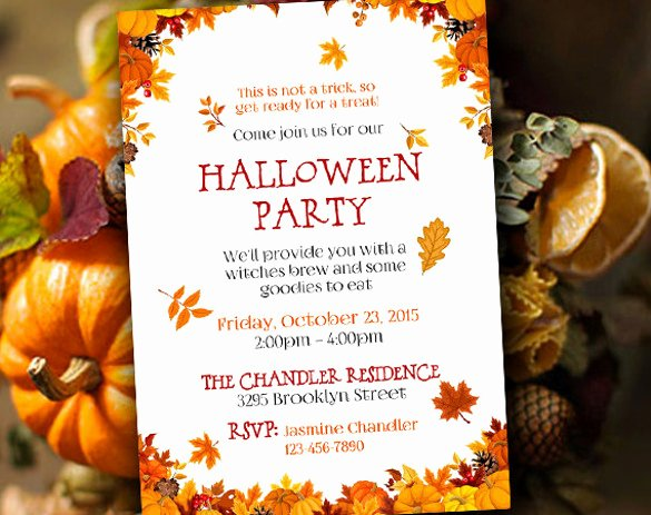 Fall Party Invitation Template Best Of 21 Halloween Invitation Templates Free Sample Example