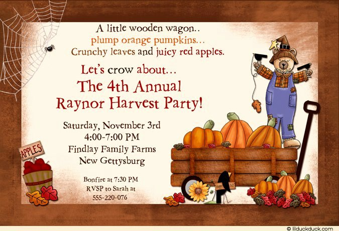 Fall Party Invitation Template Best Of Fall Luncheon Invitation Wording