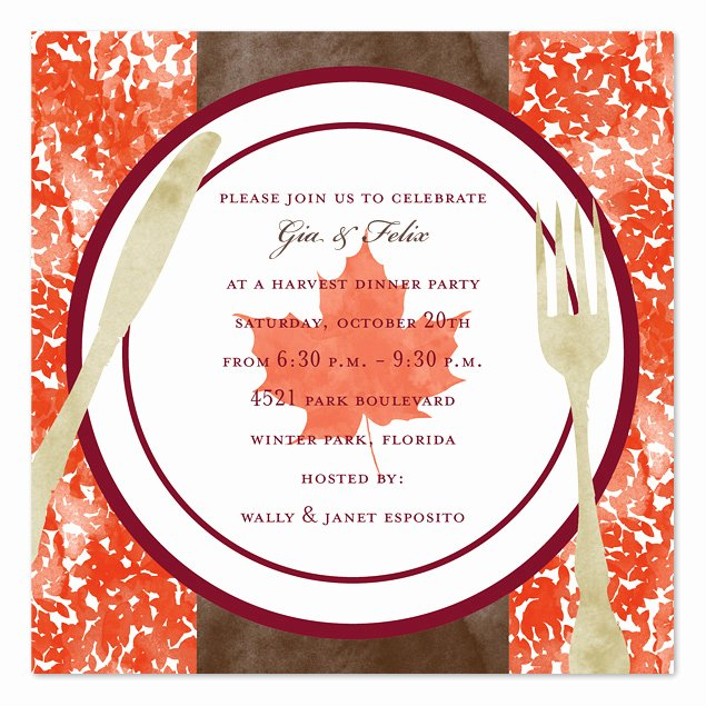 Fall Party Invitation Template Best Of Harvest Dinner Party Invitations by Invitation
