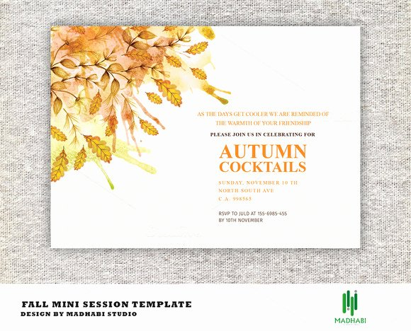 Fall Party Invitation Template Best Of Template Autumn Cocktails Party Invitations Logotire