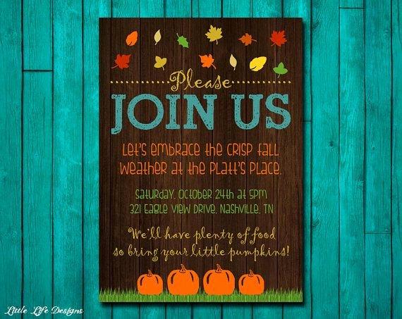 Fall Party Invitation Template Elegant 1000 Ideas About Fall Party Invitations On Pinterest
