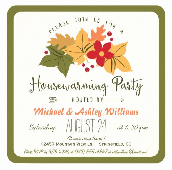 Fall Party Invitation Template Elegant 23 Housewarming Invitation Templates Psd Ai