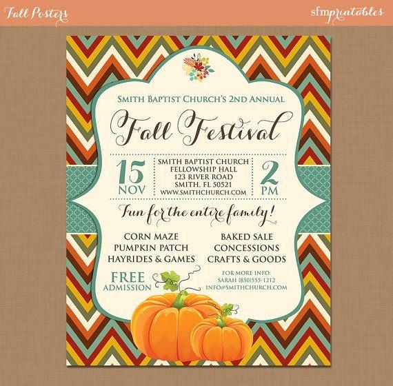 Fall Party Invitation Template Elegant Fall Festival Harvest Invitation Poster Pumpkin Patch