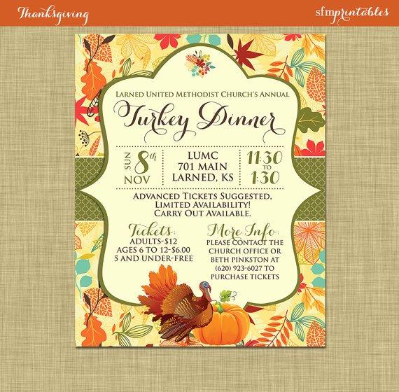 Fall Party Invitation Template Elegant Fall Turkey Dinner Harvest Thanksgiving Invitation