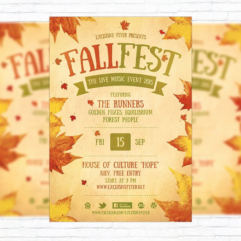 Fall Party Invitation Template Inspirational Fall Festival Flyer Template Printable Flyers In Word
