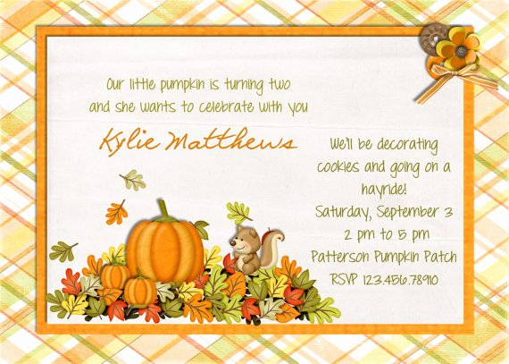 Fall Party Invitation Template Inspirational Pumpkin Birthday Invitations Ideas – Bagvania Free