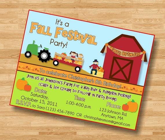 Fall Party Invitation Template Lovely Items Similar to Fall Festival Pumpkin Patch Birthday